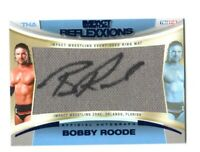 TNA Bobby Roode 2012 Reflexxions Blue Autograph Mat Relic Card SN 4 of 25