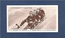 BRITISH WORLD CHAMPIONS BOBSLEIGH TEAM 1938 GARMISCH PATENKIRCHEN original card