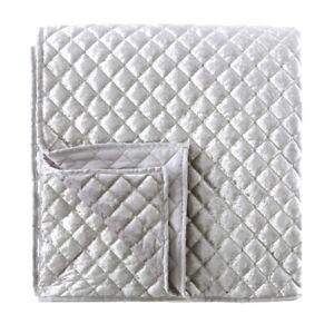 Velvet Sequin Throw Quilted Bedding Sofa Blanket - 200cm x 200cm
