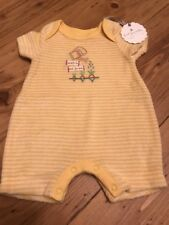 babyGap Terry Short Sleeves Yellow Striped Bodysuit Summer NB NWT Unisex