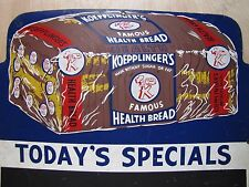 Old Koepplinger'S Health Bread Detroit Mich Store Display Advertising Sign