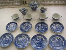 1940-50, Blue Willow, Occupied Japan 17-pc Child's Tea Set
