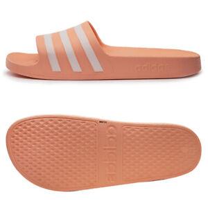 Adidas Adilette Aqua Slides Sandals Slipper Pink/White EE7345