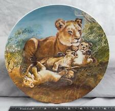Knowles Collectors Plate A Watchful Eye by Wildlife Painter Yin-Rei Hicks jds