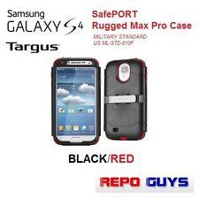TARGUS SAMSUNG GALAXY S4: SafePORT Rugged Max Pro Case BLACK/RED