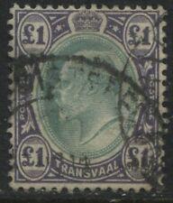 Transvaal KEVII 1902 £1 used