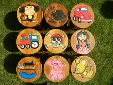 Childs Childrens Wooden Stools Hand Made Stool In assorted Designs