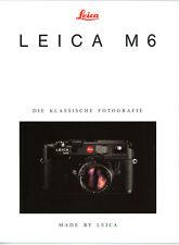 LEITZ Prospekt LEICA M6 Kamera Objektive Broschüre Reklame + Testbericht (Y2028
