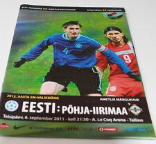 Programme for collectors EURO q * Estonia - Northern Ireland 2011 in Tallinn