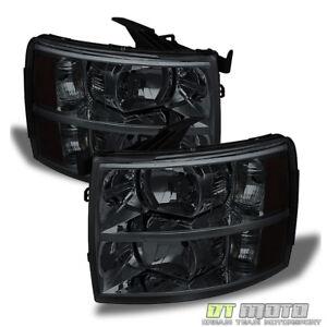Smoke 2007-2013 Chevy Silverado 1500 2500 3500 Replacement Headlights Headlamps