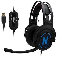 Rosewill auriculares de espuma de memoria de sonido envolvente 7.1 Gaming Headset-Nebula GX60