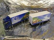 "** Herpa 299954 MAN TSX XLX Box Trailer, "" GFT "". 1:87 H0 Scale"