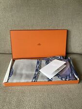 Hermes Robe Du Soir Purple 140cm Cashmere Silk Scarf
