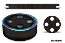 Skin Decal Wrap for the Amazon Echo Dot 2nd Gen Alexa Graphics Stickers DARKWOOD
