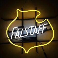 "17""x14"" Falstaff Vintage Beer Bar Real Glass Handmade Neon Light Sign"