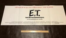 Original E.T. THE EXTRA-TERRESTRIAL advance advertisement movie poster from 1982