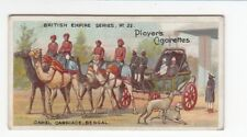 India Vintage 1904 British Empire Card Camel Carriage Bengal