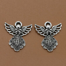 10pcs Antique Silver Wing Angel Charms Beads Pendants for DIY Bracelet Necklace