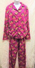 XL  Paul Frank Pajama Sleepwear Pants Shirt Black  Pink Long Sleeve Soft Fleece