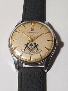 "GIRARD PERREGAUX ""MASONIC DIAL"" Wrist Men Watch - TIMEPIECE FOR COLLECTORS!!"