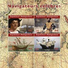 Madagascar Ships Stamps 2020 MNH Columbus Ferdinand Magellan Explorers 4v M/S