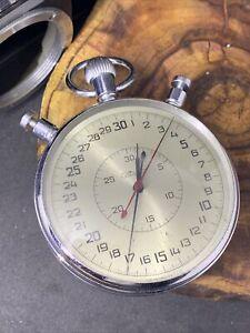 RARE 2Mchz Slava USSR Russian Soviet stopwatch 15 jewels #2197