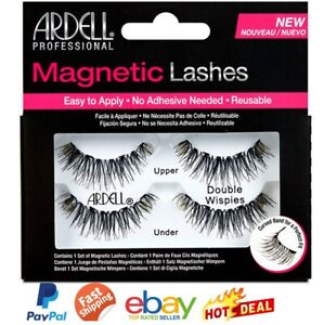 False Eye Lashes ARDELL Magnetic Double Wispies Eyelashes Extensions +Applicator