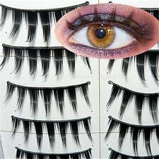 10 Pairs Soft Thick Natural Black False Eyelashes Eye Lashes Makeup with Glue