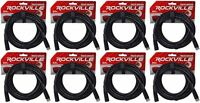 (8) Rockville RDX3M25 25 Foot 3 Pin DMX Lighting Cables 100% OFC Female to Male