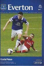 Everton V Crystal Palace 2013/14 aplazado programa Mint