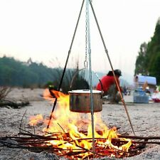 Camping Cooking & Lantern Tripod. Camp Fire Dutch Oven Pot Pan Holder