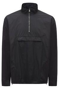 Hugo Boss Relaxed-fit zipper-neck shirt jacket in technical fabric Enim RRP£199