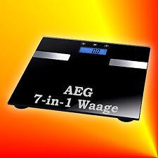 AEG PW 5644 FA 7in1 Glas-Personenwaage Multi-Analyse-Waage Körperfett Gewicht