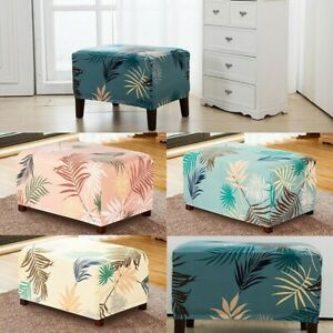 Stretch Storage Ottoman Cover Protector Furniture Foot Rest Stool Slipcover