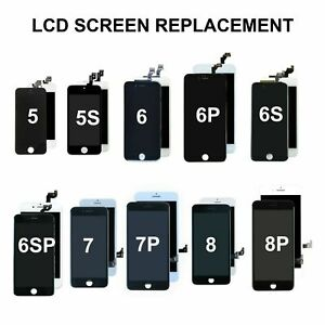 Screen replacement LCDs for IPHONE 5g ,5s, 6g, 6s, 6Plus, 7g, 7Plus, 8g, 8Plus,