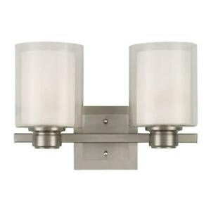 Design House Oslo 2-Light Satin Nickel Indoor Wall Mount 556142