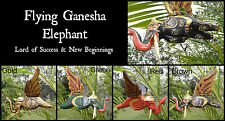 FLYING GANESHA ELEPHANT HANGING MOBILE~Success~New Beginnings~Handmade in Bali
