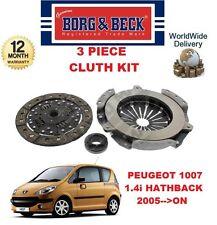 PARA PEUGEOT 1007 KM _ 1.4 2005>En Adelante Nuevo 3 piezas Borg & Beck KIT DE
