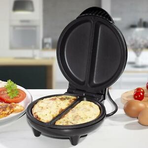 Non Stick 750W Electric Pancake Sandwich Egg Omelette Omlet Maker Cooker Black