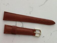 20 mm- brown- Leather Wristwatch Band-