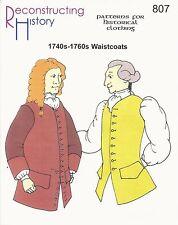 Schnittmuster RH 807: 1740s-1760s Waistcoats