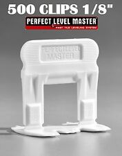 "1/8"" T-Lock 500 Clips - Perfect Level Master  - Tile Leveling System spacers"