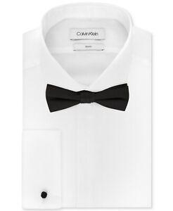 Calvin Klein Men's Slim-Fit Solid Dress Shirt & Pre-Tied Bow Tie Set 17.5 32/33