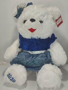 "Holiday Time Wal Mart Snowflake Girl Teddy Bear 2020 Blue 20"" Tall"
