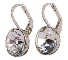 Swarovski Elements Crystal Brilliance Bella Mini Pierced Earrings Rhodium 7172y