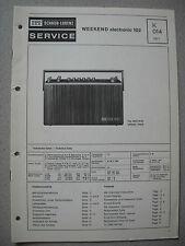 ITT/Schaub Lorenz Weekend electronic 102 Service Manual, K014