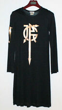 JEAN PAUL GAULTIER VINTAGE DRESS ROBE NOIRE JPG S 38 40 VERY RARE