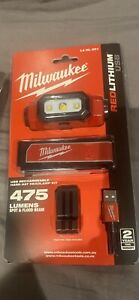 Milwaukee LED Torch Rechargeable Headlamp Cordless USB Safety Hard Hat Cap Light