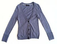 Banana Republic Womens Cardigan Italian Fabric Blue Grey Wool Cashmere Size M/L