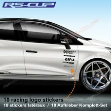 1400 Kit déco 10 autocollant RENAULT SPORT CLIO RS sticker decal aufkleber